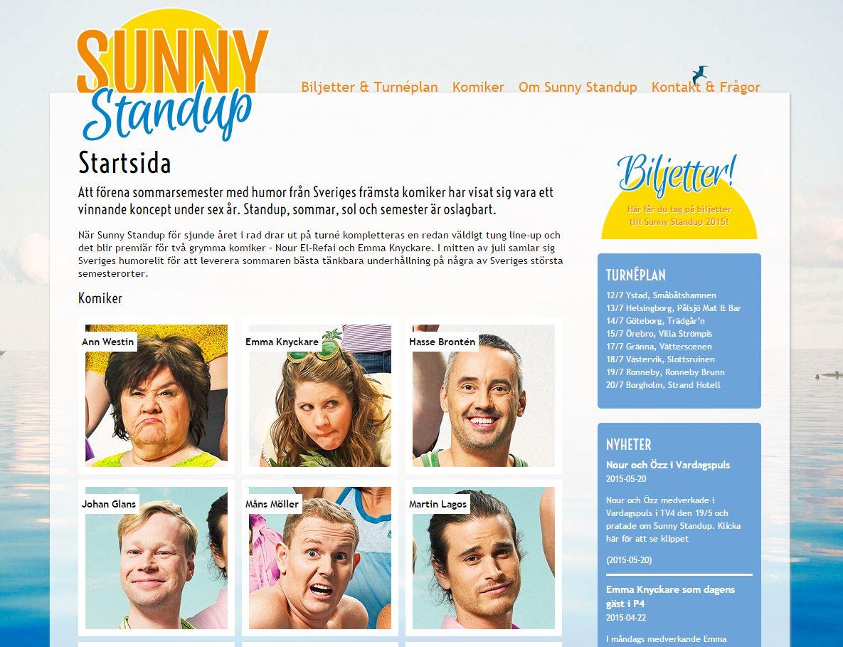 Özz drar ut på turné med Sunny Standup